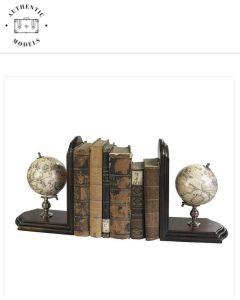 GL009F Globe Bookends