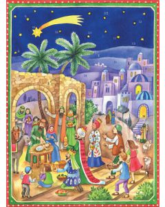 Richard Sellmer Advent Calendar At the stable of Bethlehem Nativity Scene 70121