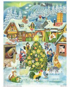 Richard Sellmar Advent Calendar Christmas in the Farm Yard 70122