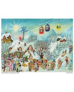 New design for 2021 Richard Sellmer Advent Calendar Snow Resort Scene 70142