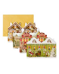 Coppenrath Victorian Style Houses Mini Advent Lanterns 71022