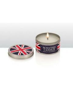 Vanilla Fragrance Scented Candles in Union Jack tins pack of 3 71056