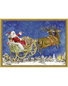 Coppenrath Victorian Style Christmas Sleigh A4 Traditional Advent Calendar 71325