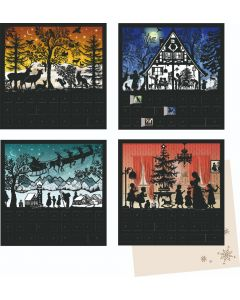 Coppenrath Silent Night Christmas Silhouette Scenes Advent Calendar Cards 71811