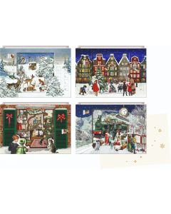 Coppenrath 3D Magical Christmastime Winterscapes Mini Advent Calendar Cards 72002