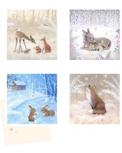 Coppenrath Cute Winter Wildlife Mini Advent Calendar Cards 72279