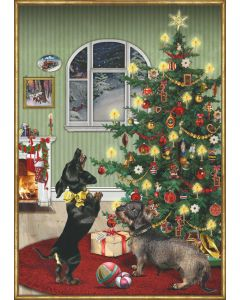 Festive Dachshund Dog Large Advent Calendar Coppenrath 72329