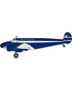 72BE001Twin Beech G-BKGM - Bristol Airways