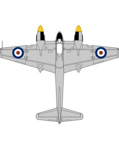 72HOR006 DH103 Sea Hornet TT197 728 Squadron Malta 1953 by Oxford Diecast