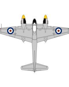 72TM009 DH Tiger Moth Floatplane Royal Navy T7187 by Oxford Diecast