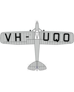 72PM007 DH80a Puss Moth VH-UQO My Hildegarde (Air Race) by Oxford Diecast