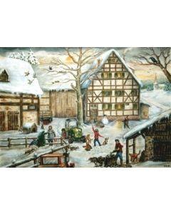 Richard Sellmer Advent Calendar Farm Yard German Christmas 758