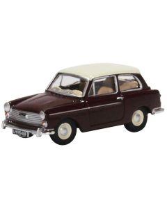 76AA007 Austin A40 MkII Maroon Black/Snowberry White