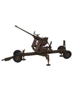 Oxford Diecast 40MM Bofors Anti Aircraft Gun Brown 76BF001