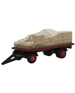 76CTR002 Canvassed Trailer Maroon/Red