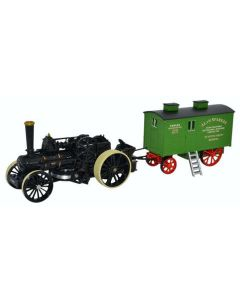 Oxford Diecast 76FBB002 Fowler BB1 Ploughing Engine no 15222 Bristol Rover & Living Wagon