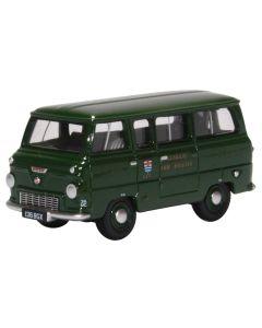 Oxford Diecast Ford 400 E Minibus London Fire Brigade (Green) 76FDE016