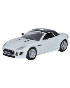 76FTYP002 Jaguar F Type Polaris White by Oxford Diecast