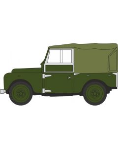 "Oxford Diecast Bronze Green (Plimsoll) Land Rover Series I 88"" Canvas (Rails) 76LAN188024"