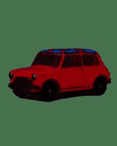 Oxford Diecast Austin Mini Tartan Red/Union Jack 76MN001