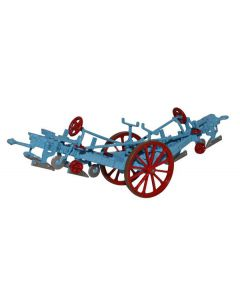 Oxford Diecast Fowler Plough Blue/Red 76PL001