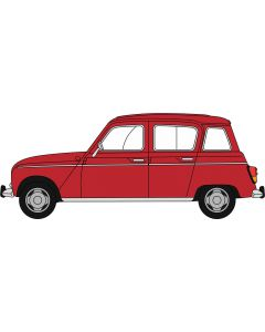 Oxford Diecast Renault 4 Red 76RN002