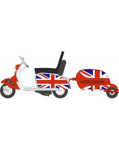 Oxford Diecast Scooter & Trailer Union Jack 76SC002