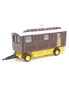 Oxford Diecast Showmans Caravan Maroon 76SCV001