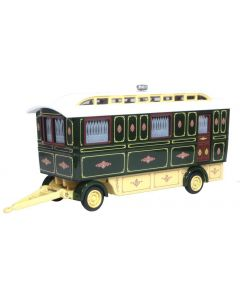 Oxford Diecast Showmans Caravan Green 76SCV002
