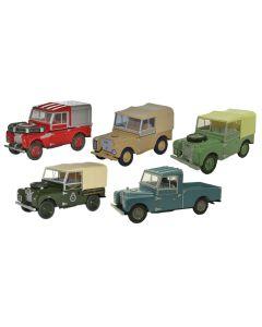 Oxford Diecast Land Rover 5 piece Set 76SET17C