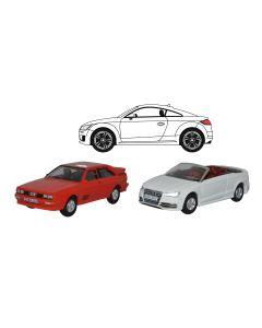 Oxford Diecast 3 Piece Audi Set Quattro/TT/S3 Convertible 76SET68