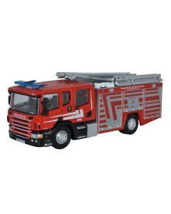 Oxford Diecast Scania CP31 Pump Ladder Shropshire Fire & Rescue 76SFE010