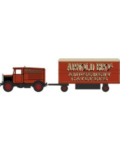 76SST007 Scammell Showtrac & Dodgem Trailer Arnold Bros by Oxford Diecast