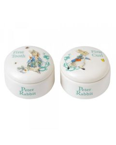 Peter Rabbit First Tooth & Curl Box by Enesco A25866