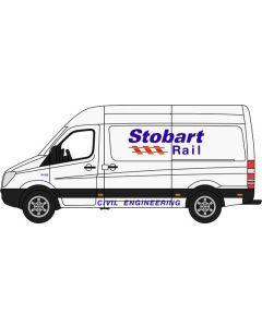 Oxford Diecast Mercedes Sprinter Van Stobart Rail 76MSV002