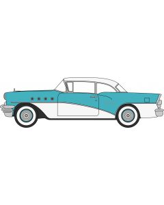 87BC55001 Buick Century 1955 Turquoise / Polo White by Oxford Diecast