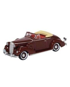 87BS36003 Buick Special Convertible Coupe 1936 Cardinal Maroon by Oxford Diecast