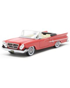 Oxford Diecast Chrysler 300 Convertible Open 1961 Mardi Gras Red  87CC61001