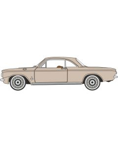 Oxford Diecast Saddle Tan Chevrolet Corvair Coupe 1963 87CH63003