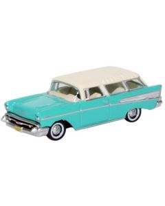 87CN57003 Chevrolet Nomad 1957 Surf Green/India Ivory by Oxford Diecast