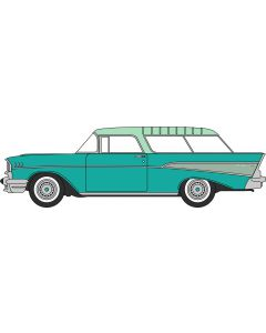 Oxford Diecast Surf Green/Highland Green Chevrolet Nomad 1957 87CN57006