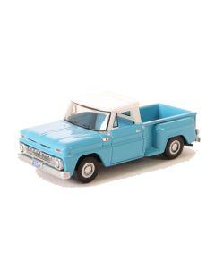 Oxford Diecast Chevrolet Stepside Pick Up 1965 Light Blue/White 87CP65001
