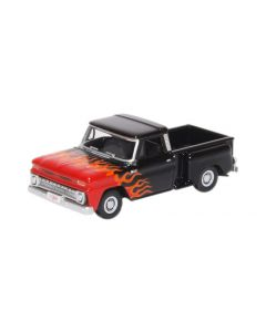 87CP65004 Chevrolet Stepside Pick Up 1965 Red/White by Oxford Diecast