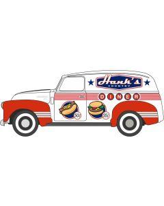 Oxford Diecast Hanks Country Diner Chevrolet Panel Van 1950 87CV50003