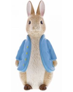 Beatrix Potter Peter Rabbit Sculpted Ceramic Money Bank by Enesco A29292