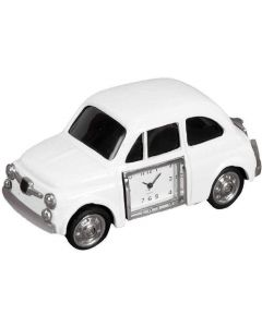White Car Miniature Clock by Widdop & Co 9008