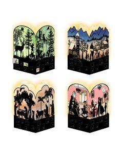 Coppenrath Victorian Style Silhouette Scenes Mini Advent Lanterns 92998
