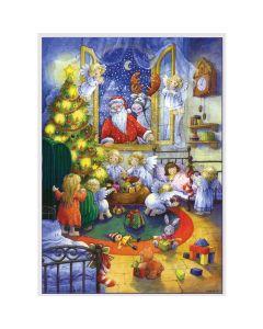 Richard Sellmer A4 Advent Calendar Santa Visits Children 92