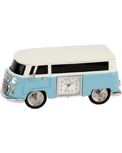 Blue Camper Van Miniature Clock by Widdop & Co 9710BL