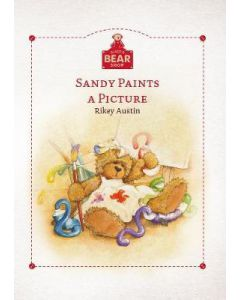 Alice's Bear Shop Storybook Sandy Paints a Picture, Art print and lapel badge package